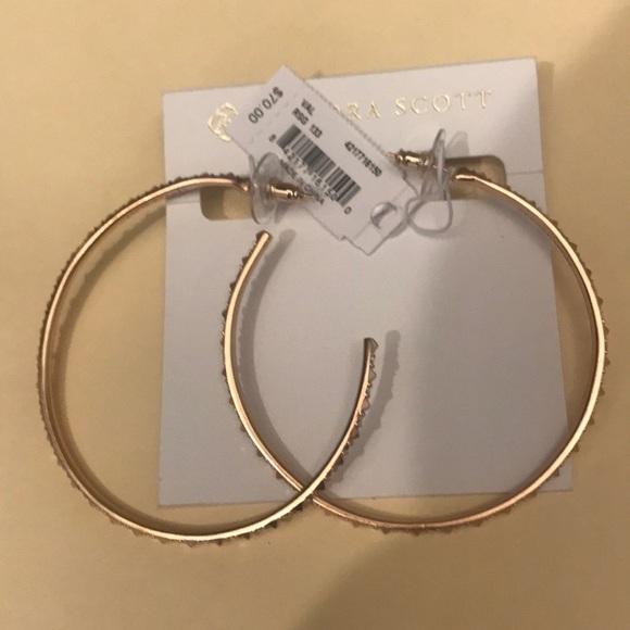 2b325a66fc30a Kendra Scott Val Rose Gold Hoop Earrings NWT